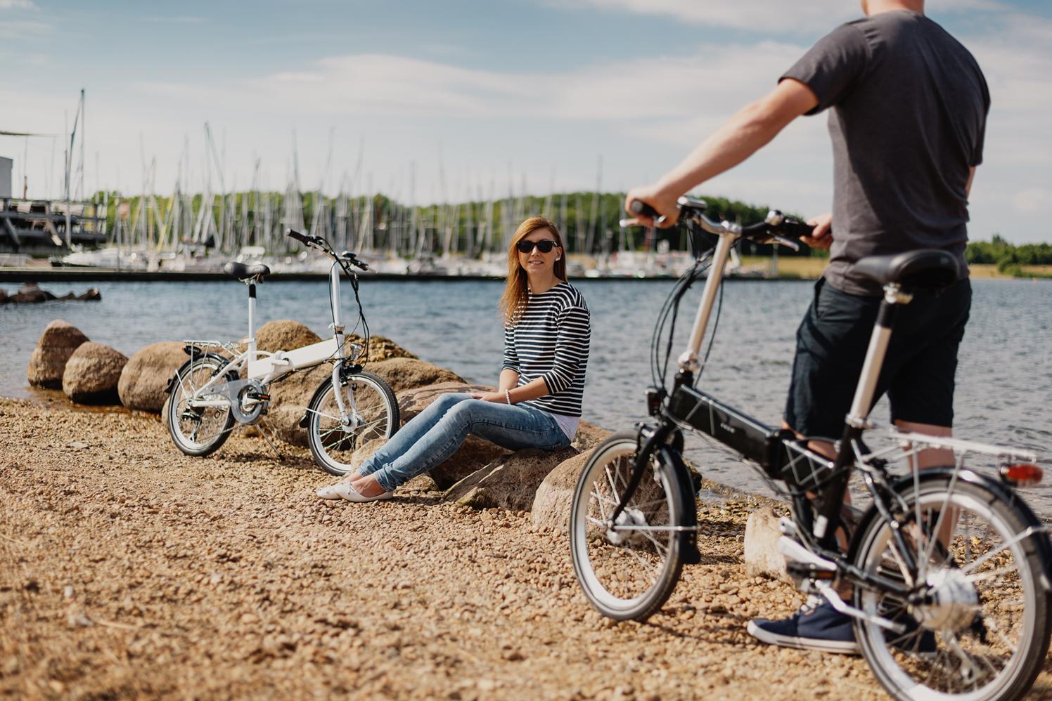 Die Falträder VAUN Egon am Cospudener See