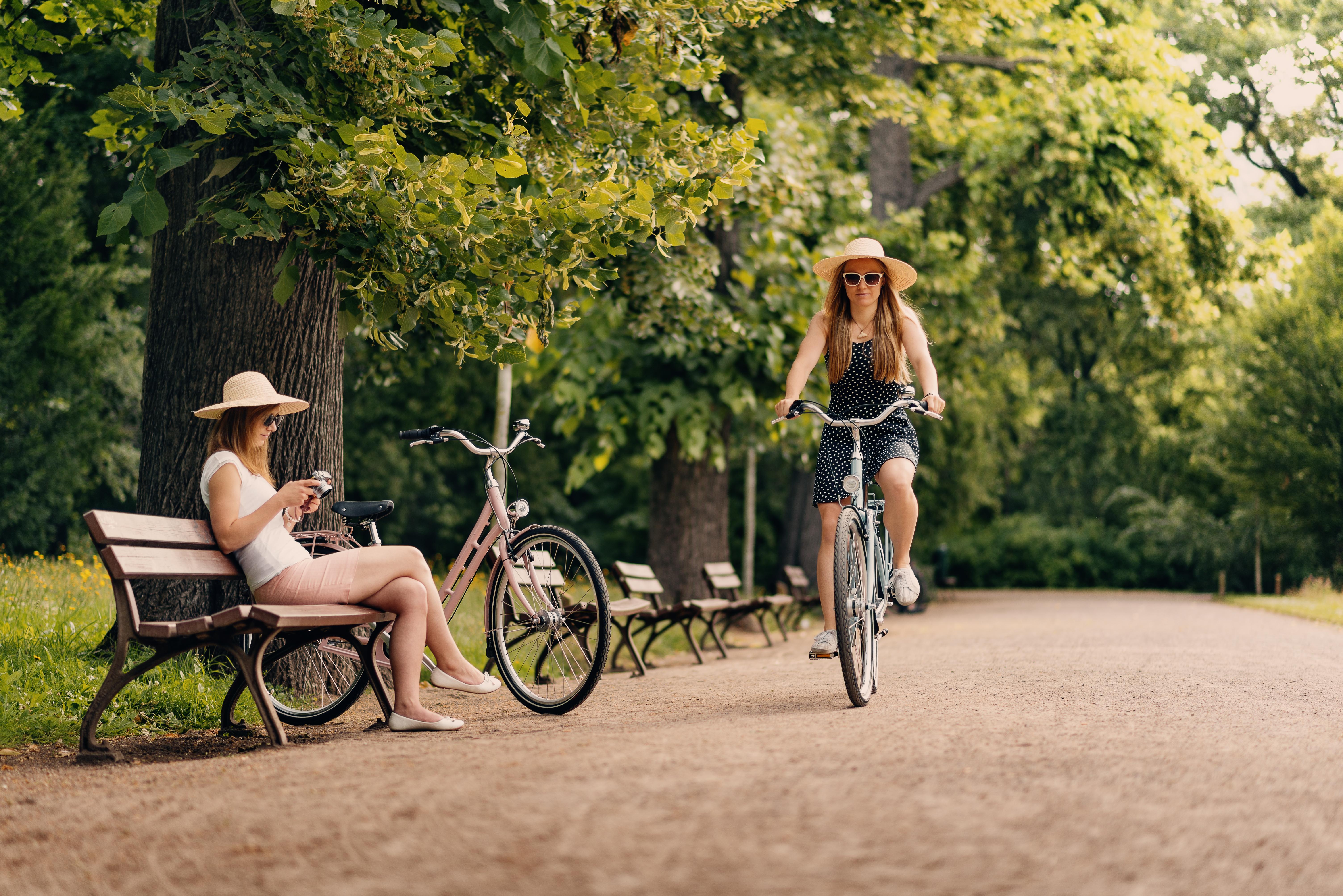 Stadträder on Tour im Clara Zetkin Park