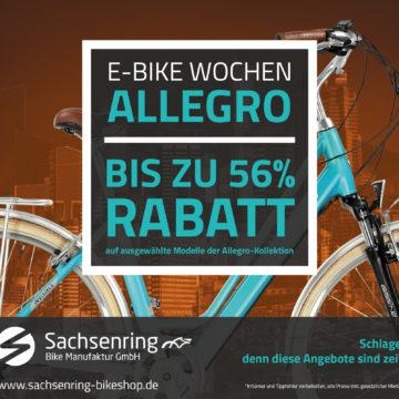 Bis zu 56 Prozent auf ausgewählte Allegro E-Bike Modelle bei Sachsenring Bike sichern